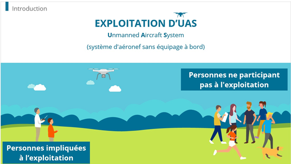 Dokeos has developed online drone training for the Belgian government.